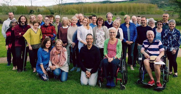 Vidyamala Burch and the Breathworks community | Photo courtesy Vidyamala Burch