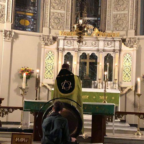 Sound bath Evensong at All Saints Episcopal Church, Brooklyn, NY